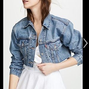 Levi's crop cut off denim jacket, new with tags!